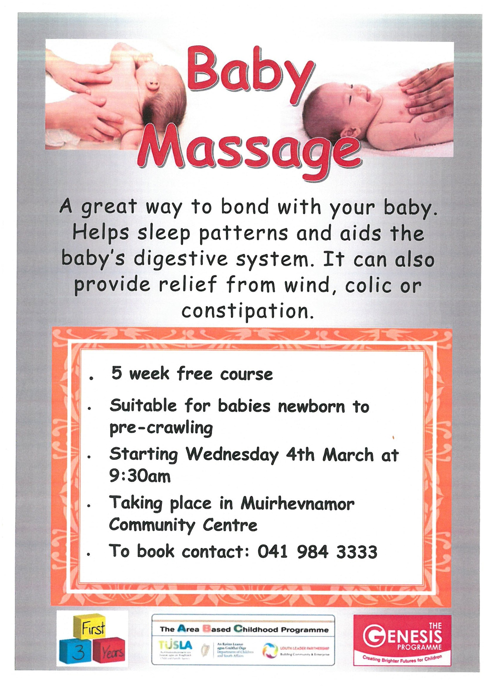 Baby Massage Course Dundalk